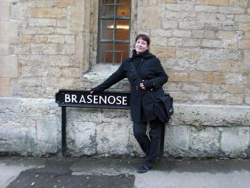 Pilgertour während des England-Studiums zu Palins altem College in Oxford.